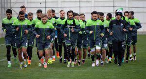ATIKER KONYASPOR, UEFA AVRUPA LIGI H GRUBU'NDAKI BRAGA ILE OYNAYACAGI MACIN HAZIRLIK CALISMALARINA BASLADI. (FOTO:KONYA/DHA)