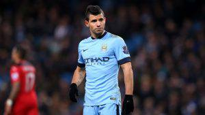 MANCHESTER, ENGLAND - MARCH 04: Sergio Aguero of Manchester City reacts during the Barclays Premier League match between Manchester City and Leicester City at the Etihad Stadium on March 4, 2015 in Manchester, England. (Photo by Alex Livesey/Getty Images)