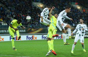 UEFA Avrupa Ligi H Grubunda Gent ile Atiker Konyaspor, Belçika'nın Gent şehrindeki Ghelamco Arena Stadı'nda karşılaştı. ( Dursun Aydemir - Anadolu Ajansı )