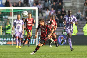 Anthony MOUNIER - TFC vs OGC Nice - 28/03/2010 - Chpt de France L1 2009-10. Photo: Manuel Blondeau/AOP.Press.