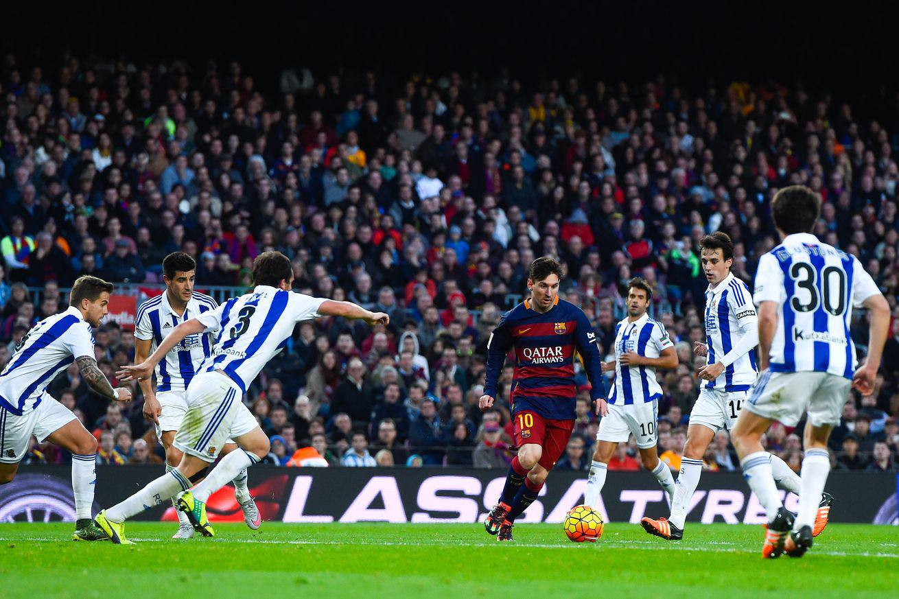 Archive of live commentary from the Spanish La Liga match Barcelona vs Sociedad Read the play by play
